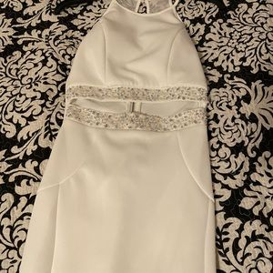 White Prom dress- Size Juniors 5 (fits women's 2)